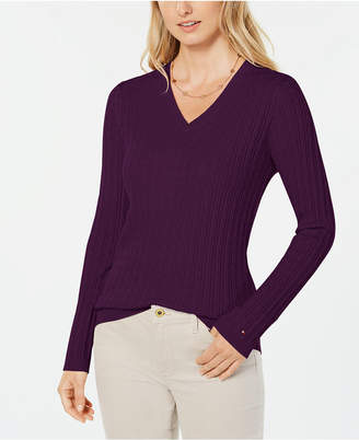 Tommy Hilfiger Cotton Cable-Knit Sweater