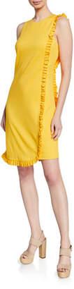 Trina Turk Sunlight Sleeveless Shift Dress w/ Ruffles