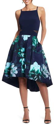 Xscape Evenings Floral High/Low Cocktail Dress