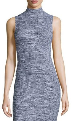 Theory Everleen P Marled Knit Sleeveless Top $245 thestylecure.com