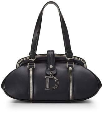 Christian Dior Black Leather Frame Bag