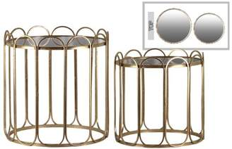 Urban Trends Collection: Metal End Table Metallic Finish