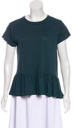 The Great Ruffle-Accented Short Sleeve Top