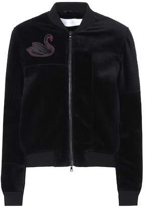 Victoria Beckham Victoria Embroidered corduroy jacket