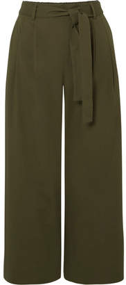 J.Crew Stretch-cotton Poplin Cropped Pants - Green