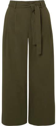J.Crew Stretch-cotton Poplin Cropped Pants - Green