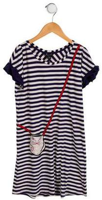 Little Marc Jacobs Girls' Striped Shift Dress