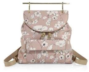 M2Malletier Flower-Print Leather Mini Backpack