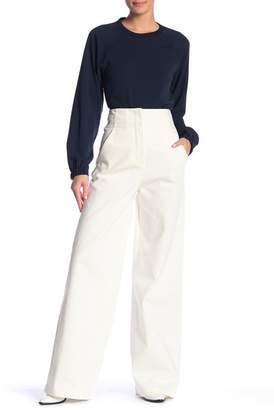 Tibi Solid Wide Leg Jeans