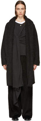 LAUREN MANOOGIAN Black Capote Hooded Cardigan