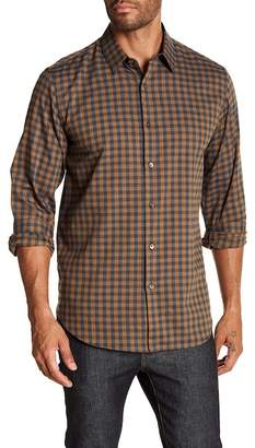 Theory Clean Tonal Slim Fit Flannel Shirt