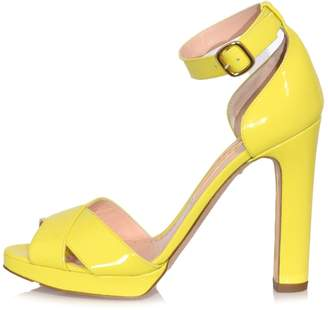 Rupert Sanderson Meadow Patent Heel in Citrus