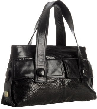 Kooba black leather 'Julia' shoulder bag