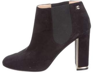 Chanel Suede Ankle Boots