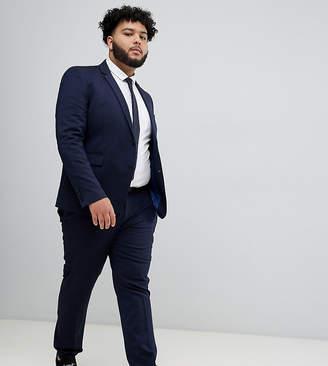 Burton Menswear Big & Tall skinny suit pants in navy