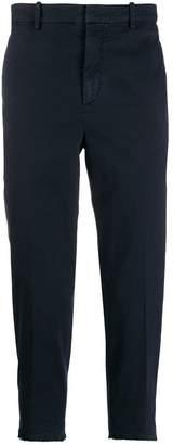 Neil Barrett frayed cuff cropped trousers