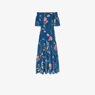 379faaadaf Borgo de Nor off-the-shoulder floral print maxi dress