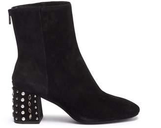 Ash 'Hyde' embellished heel suede ankle boots