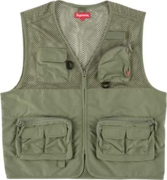 Supreme Mesh Cargo Vest - 'SS 18' - Light Olive