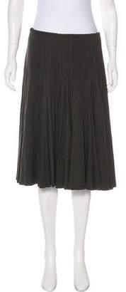 Akris Cashmere A-Line Skirt