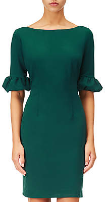 Adrianna Papell Adrianna Papell, Bishop Sleeve Shift Dress, Hunter