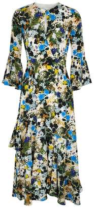 Erdem Florence Floral-print Silk Dress