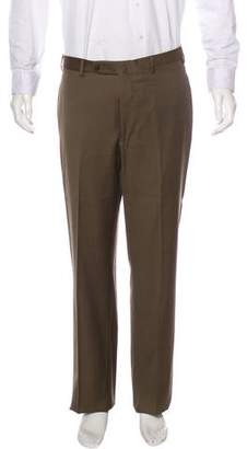 Incotex Wool Flat Front Pants