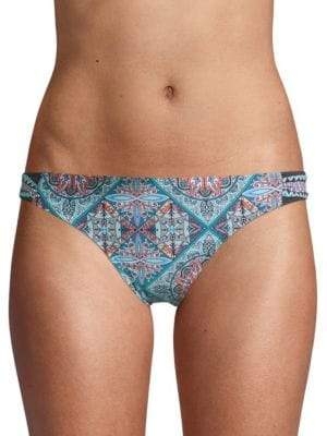 Laundry by Shelli Segal Tab Side Printed Bikini Bottom