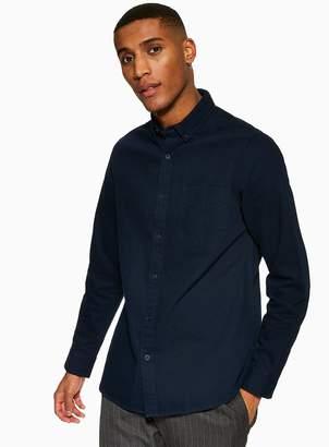 Navy Twill Slim Shirt