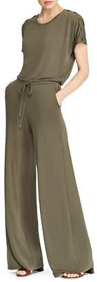 Lauren Ralph Lauren Lace-Up Wide-Leg Jumpsuit