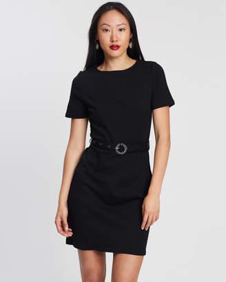 Dorothy Perkins Plain Embellished Belted Detail Dress