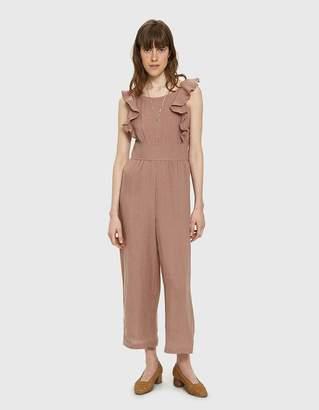 Farrow Gio Ruffle Linen Jumpsuit