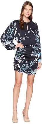 Hale Bob One Vine Day Rayon Stretch Satin Woven Pippa Dress Women's Dress