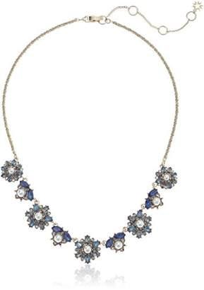 Marchesa Women's Cream Silk Frontal Necklace
