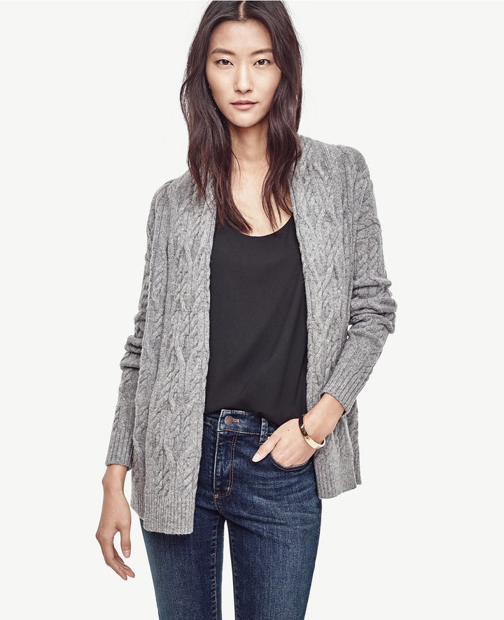 Cable Open Cardigan