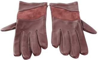Loewe Vintage Burgundy Leather Gloves