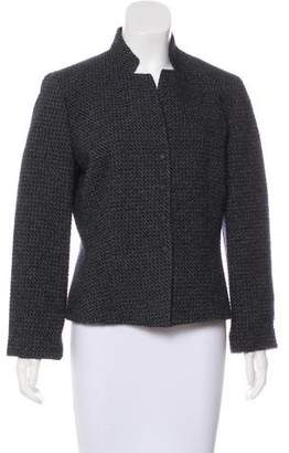 Armani Collezioni Mock Neck Snap-Front Jacket