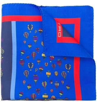 Etro multi-transport print scarf