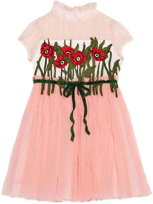 Children's silk dress with embroidery $1,980 thestylecure.com