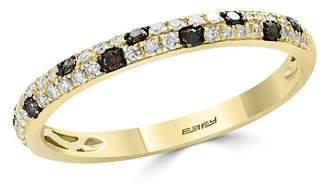 Bloomingdale's White & Brown Diamond Stacking Ring in 14K Yellow Gold - 100% Exclusive