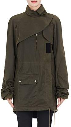 Saint Laurent Women's Waxed Cotton Parka