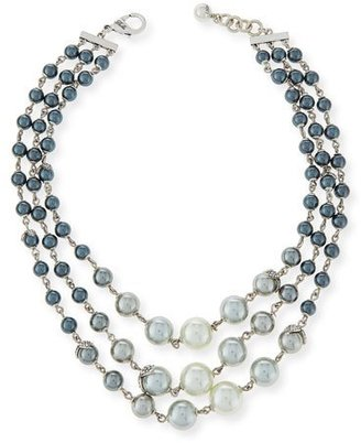 Lulu Frost Ombre Simulated-Pearl Statement Necklace $325 thestylecure.com