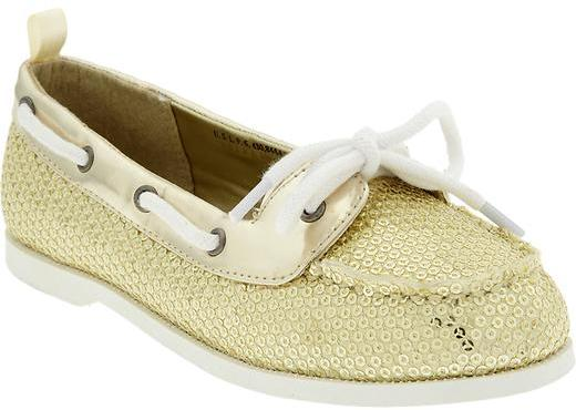 Old Navy Girls Sequined Boat Shoes