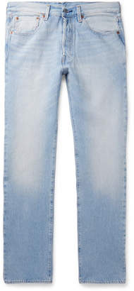 Levi's 501 Slim-fit Stretch-denim Jeans - Light denim