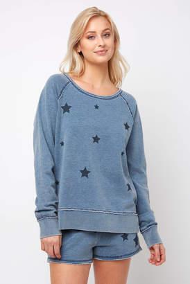 PJ Salvage Seeing Stars Denim Sweatshirt