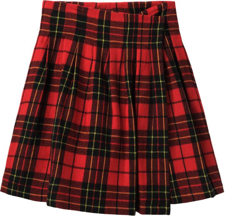 Limi Feu Tartan Wrap Skirt