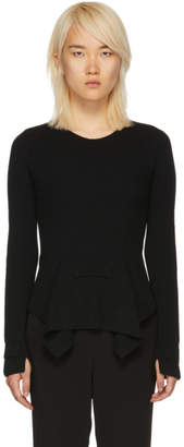 Stella McCartney Black Knit Front Flare Sweater