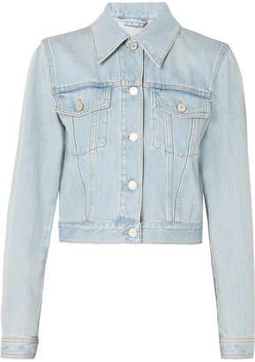 Gucci Cropped Appliqued Denim Jacket