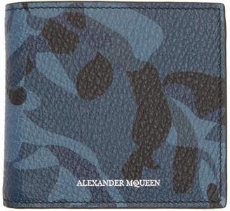 Alexander McQueen Blue Skull Camo Wallet
