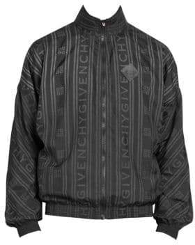 Givenchy All-Over Tonal Stripe Logo Nylon Jacket